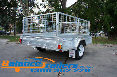 7x5 HOT DIP GALVANISED FULL WELDED TIPPER BOX TRAILER WITH 600MM REMOVABLE CAGE 5