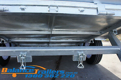 7x5 Hot Dip Galvanised Fully Welded Tipper Box Trailer With 600mm Removable Cage 9