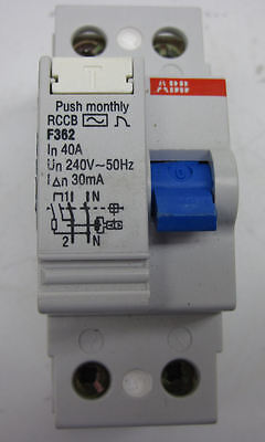 4-Pole ABB F364-40//0.03 Residual Current-Operated Circuit Breaker 40A//30mA