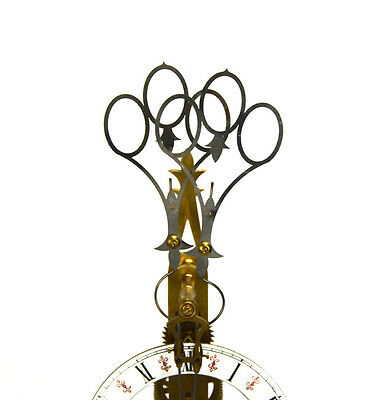 Fusee Drive Scissors Pendulum Brass Skeleton Clock - It has 2 Swinging Pendulums 2