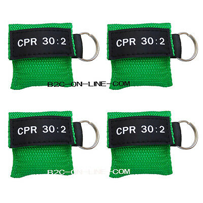 100 Cpr Mask Keychain Cpr Face Shield  Aed Green Writing Cpr 30:2 2