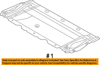 audi oem 12-16 a6 quattro splash shield-front under engine cover  4g0863821f 2