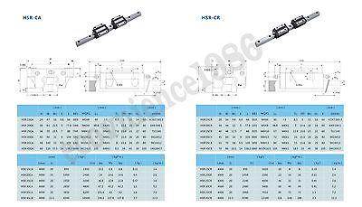 2 sets HSR20-1400mm Hiwin Liner rail /& 2pcs THR20BL Block Bearing
