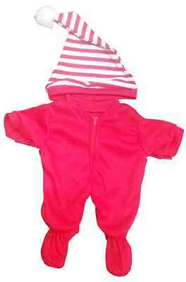 XMAS One Piece pajamas Clothing Outfit by Stufflers – Will fit on a Build a bear