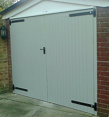 3 Of 5 Wooden Garage Doors Side Hung 7u0027 Wide X 7 Highu0027 (Timber) U0027