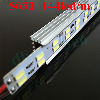 Dual Row 5630 1m 0.5m Led Strip Hard Bar Aluminum Case Milk Clear Cover Cap 12 V 6
