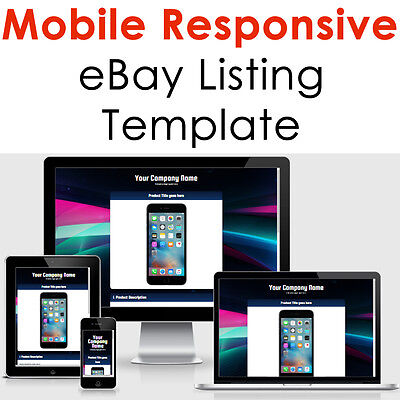 Ebay Template Responsive Listing Professional Auction Html Mobile 2019 Design 2