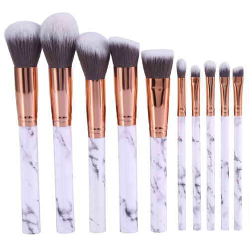 10pcs Kabuki Style Professional Make up Brush Set Foundation Blusher Face Powder 2