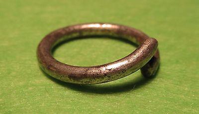 Scythian-Sarmatia Silver Old Ring - Temporal 7-3 th Century BC  2.2 grams