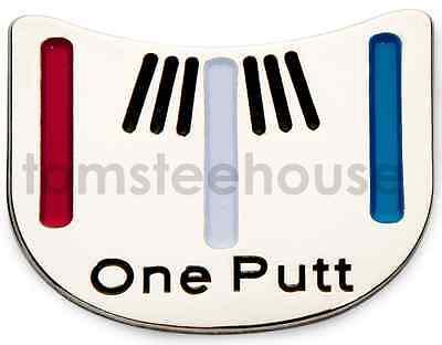 "2x ""One - Putt"" Golf Ball Marker & 2 x  Magentic Hat Clip"