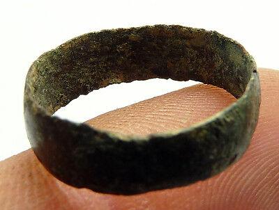 Beautiful Fine Roman Copper Ring Old Antique 3
