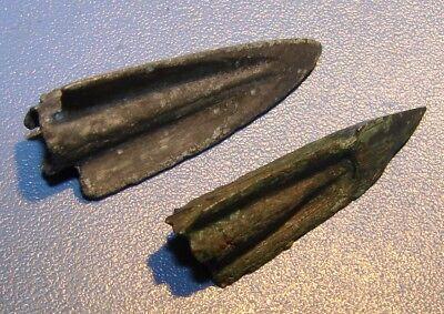Ancient  arrowhead 7 - 2 nd century BC bronze. RARE. ORIGINAL 2