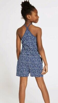 New Girls All Over Print Romper Pyjamas Age 3-4 Years Marks & Spencer 3