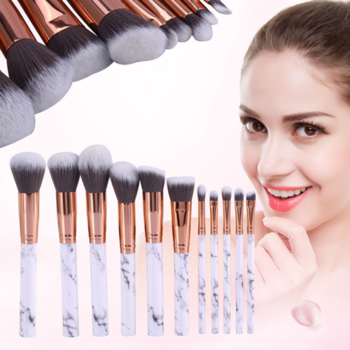 10pcs Kabuki Style Professional Make up Brush Set Foundation Blusher Face Powder 3