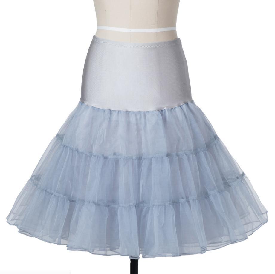 UK Retro 50s Underskirt Swing Vintage Net Petticoat Rockabilly Tutu Fancy Skirt 5