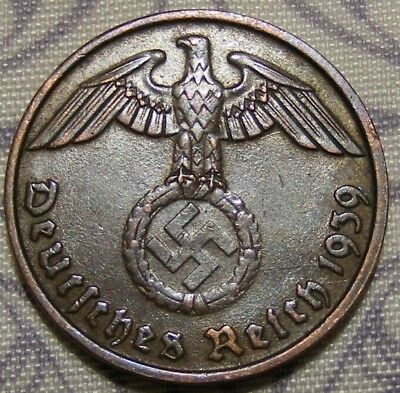 SWASTIKA copper penny ww2 .The real coin,no fakes nazi 4
