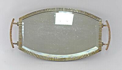 8433005 Verspiegeltes Tablett Art déco um 1930-50 Metallfassung 2