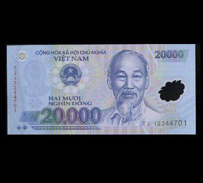 10,000 Iraqi Iraq Dinar + Free  20,000 Vietnam Dong UNC Banknote Set 10000 20000 3