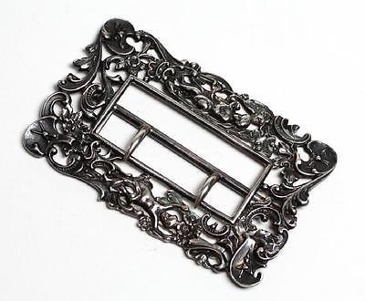 Antique Art Nouveau Gorham 925 Sterling Silver Cupid Belt Buckle Repoussé 1896 4