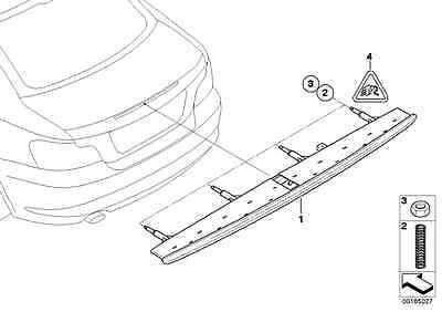 BMW Genuine Third Brake Light Compression Spring 1 Series E82 E88 63257211238