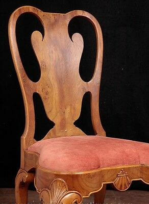 Set 10 Queen Anne Dining Chairs Walnut Diners 10