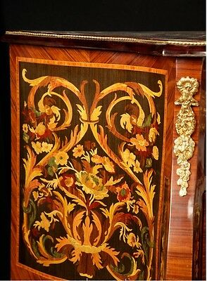 Pair French Empire Cabinets Commodes Chests on Stands Inlay 3