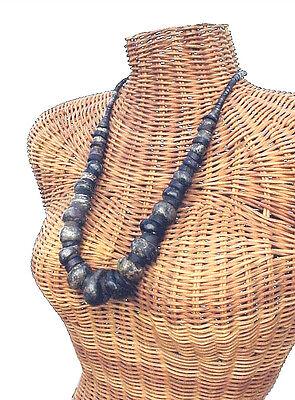 Pre-Columbian Mezcala Jade Green Stone Bead Necklace Mexico 4