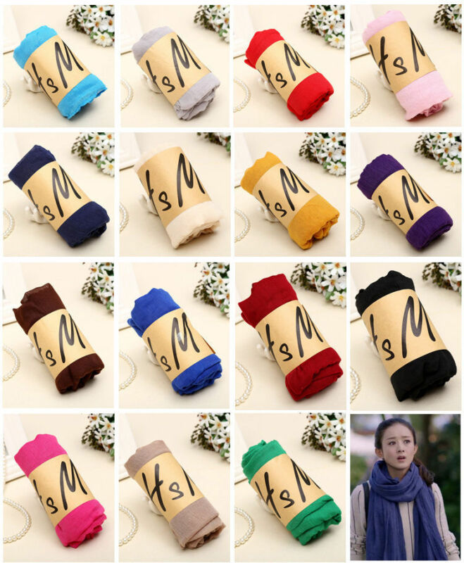 Hot Lady Women Long Candy Colors Soft Cotton Scarf Wrap Shawl Scarves Fashion 2