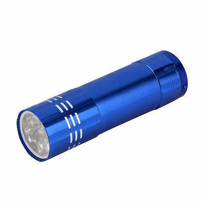ULTRA BRIGHT 9 LED POWERFUL SMALL CAMPING TORCH FLASH LIGHT LAMP LIGHTS Random! 10