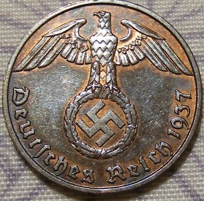 SWASTIKA copper penny ww2 .The real coin,no fakes nazi 6