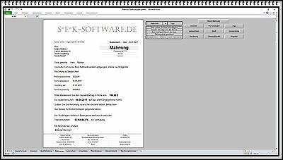 Rechnungsprogramm Rechnungssoftware Mahnung Lieferschein Angebot Fax
