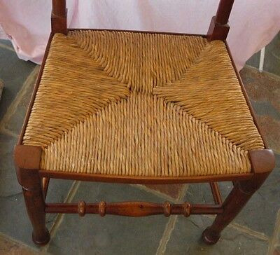 set 8 French Rustic Spindleback Chairs in Oak 7