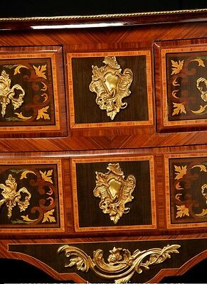 Pair French Empire Cabinets Commodes Chests on Stands Inlay 8