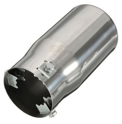 58mm Inlet Chrome Oval  Exhaust Tip Stainless Car Muffler Tail Pipe Universal