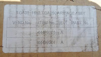 New Linear Bearing Assy. Rail #46137301, Tga-1693, Tga35 Carriage Set N103073Lp,