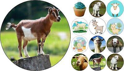 Ziege Tier Eßbar Tortenbild Tortenaufleger Party Deko Geburtstag Muffin Neu 5