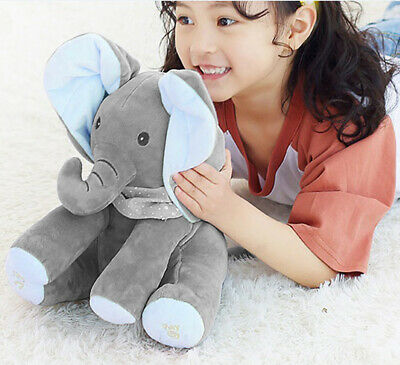 Flappy Ear The Elephant Peek-a-boo Flap Liam Lena Sing & Play Plush Toy for Baby 3