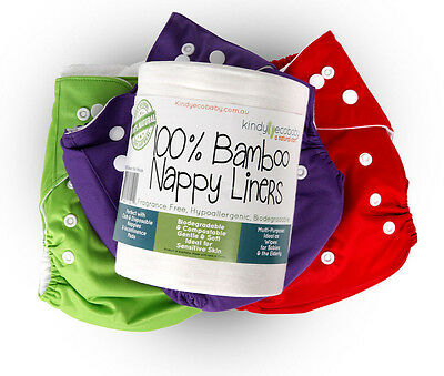 250 x Bamboo Flushable Nappy Liners/Inserts Nappy Cloth, Baby Diaper liners 3