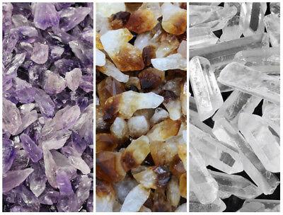 500 Carat Bulk Mix Amethyst + Citrine + Clear Quartz Crystal Points Collection 6