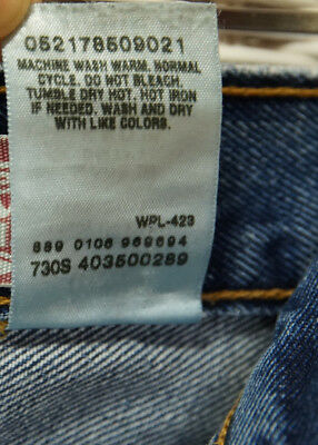 LEVI'S 550 Blue Jeans Kids' 11 Regular Relaxed Fit W25 L25 Levis Red Tab Denim 7
