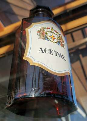 Apotheker - Altes, wunderschönes Apothekerglas - ACETON - Unikat 11