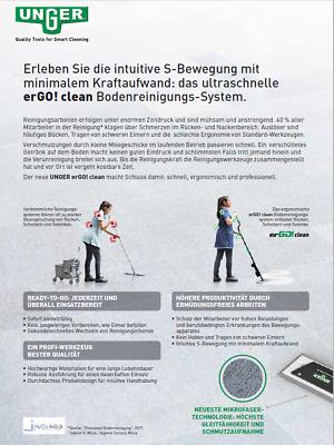 Unger FAKT3 erGO! Clean Bodenreinigungs-Set Taschenmopp 40 cm Teleskopstiel 10