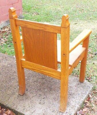 "Solid Oak ""Bishops Chair"" 3"