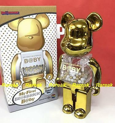 ad804b3d ... Medicom Toy Plus Be@rbrick My First Baby 400% Gold & Silver Bearbrick  1pc
