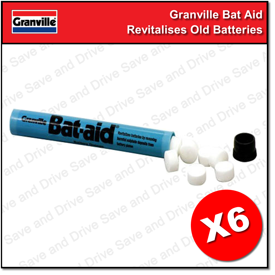 6x Granville Car Bat Aids Battery Tablets Additive Bat-Aid Revitalize Batteries 2