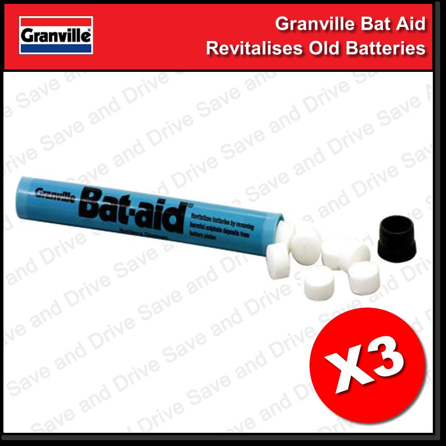 3x Granville Car Bat Aids Battery Tablets Additive Bat-Aid Revitalize Batteries 2
