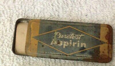 Antique Tin, Puretest Aspirin, Rexall Drug Stores, made by United Drug 5