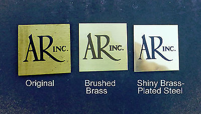 One SHINY BRASS AR Acoustic Research TURNTABLE or 4x Emblem Badge Logo