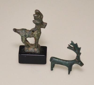 Ancient Bronze Animal Figures (Deer, Ibex, Ram) Lot 42B