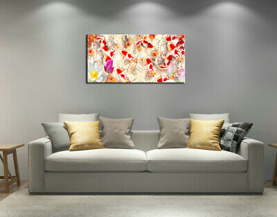 Wall Art Home Decor HD print oil painting on Canvas Feng Shui Fish Koi Painting 3